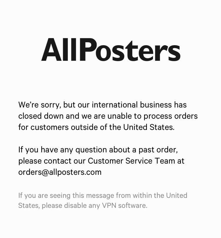 Available in two sizes at allposters.com